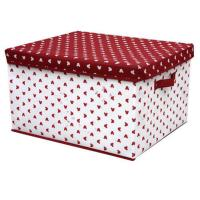 Buy cheap OEM Durable PP Non Woven Storage Boxes with Cover , White Red Dots Printed from wholesalers