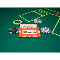 Buy cheap 13.5 Gram Square Casino Poker Chips , Personalised Engraved Clay Poker Chip from wholesalers