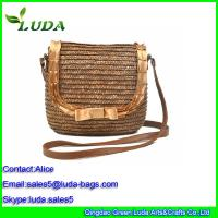 Buy cheap Luda Woven Lady Straw Beach Bags for Wheat Straw Material from wholesalers