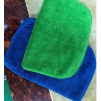 Buy cheap Microfiber Green Colorful Coral Fleece Stitching Car Kitchen Towels 26*36cm 600gsm from wholesalers