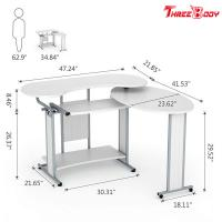 Buy cheap L Shaped Modern Home Office Desk , Simple Small Desktop Computer Desk from wholesalers