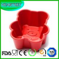 Buy cheap Bear Shaped Silicone Cake Baking Mold Silicon Cake Tray DIY Soap Mould Bread Pan from wholesalers