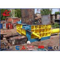 Small / Medium Production Scrap Metal Baler Steel Compactor Easy Hand Valve Control
