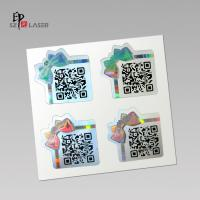 Buy cheap Custom Polyester Holographic sticker labels with serial number printing from wholesalers