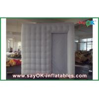Buy cheap White Party Blow Up Photo Booth Tent LED Lighting With Door Curtain from wholesalers
