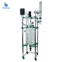 Buy cheap Laboratory chemical double layer vacuum glass reactor with reaction vessel product