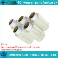 Buy cheap LLDPE stretch film pallet wrap plastic packaging film hand roll stretch film from wholesalers