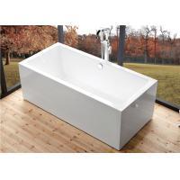 Indoor Comfortable Freestanding Soaking Bathtubs Rectangle High Water Capacity