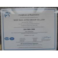 Zangoo Auto Group Co., Ltd Certifications
