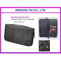 Buy cheap Portable passport case with key holder, zipper card bag, nylon passport bag from wholesalers
