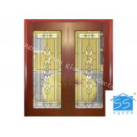 Custom Glass Panels For Doors , 16-30 Mm Decorative Stained Glass