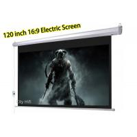 Buy cheap Foldable Electric Rear Projection Screen Ceiling / Wall Mounted For Projector Cinema from wholesalers