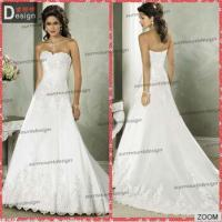 Buy cheap Pretty Ivory Lace Appliqued Open Back Court Train Wedding Dresses From China from wholesalers