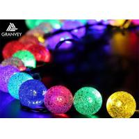 Buy cheap Crystal Solar Powered Fairy Lights , Solar Powered Christmas Ornament Ball Xmas Party Tree Decors from wholesalers