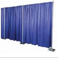 Buy cheap public event Remote control motorized curtain rail system double curtain rod &rail from wholesalers