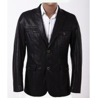 Buy cheap Black / Dark Red / Yellow, Fashion 100% Viscose and Knitting Mens Leather Blazers product
