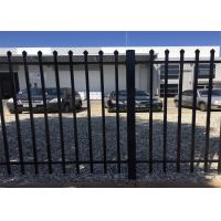 Buy cheap used wrought iron fence panels/tubular steel fence/garrison fence 2100MM X 2400MM for sale perth WA stain black powder from wholesalers