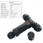 High quality IP68 Black White PVC 3 pin male female T type waterproof power cord