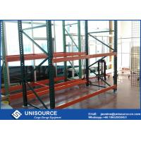 Buy cheap Warehouse Teardrop Pallet Rack System Easy Assembly Heavy Duty Metal Shelving from wholesalers