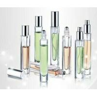 Buy cheap 10ml 10cc glass  square perfume bottle with steel ball roll on from wholesalers