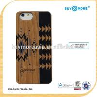 Quality High quality wood Mobile Phone Accessory for iphone 6s 6 plus Paint Pattern Black PC phone cover for sale