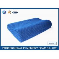 Anti-Snore Wave Shaped Contoured Memory Foam Bed Pillow With Cotton Velvet