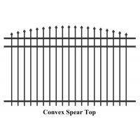 China Steel Hercules Security Fencing Slanted Tubular Palisade Fences Ornamental Wrought Iron Panels on sale