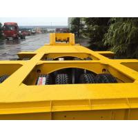 Buy cheap 13m Length 100ton detachable flatbed gooseneck trailer for crane or excavator transport from wholesalers