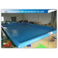 Buy cheap Blue Inflatable Swimming Pool With Platform , Large Inflatable Pool For Adults product