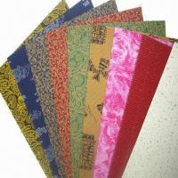 Buy cheap Printed Corrugated Paper, Used in Handcrafts, School Activities and Gift Wrapping from wholesalers