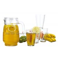 Buy cheap 5 Pieces Glass decanter and tumbler set for Juice drinking 1.3L / 10OZ product