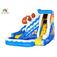 Buy cheap Commercial PVC Tarapulin Blue Mini Inflatable Water Slide With 2 Years Warranty from wholesalers