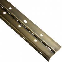 Buy cheap Brass Plated Continuous Piano Hinge Partial Wrap Slotted For Bending Metal Door from wholesalers