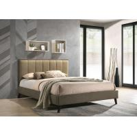 Buy cheap Gold Hotel Platform Bed / Double Platform Bed With Drawer Linen Fabric from wholesalers