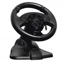Buy cheap Game steering wheel racing wheel with foot pedal for PC + X-INPUT + P2 + P3 from wholesalers