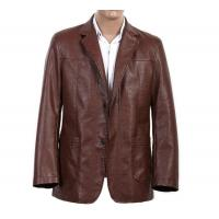 Buy cheap 100% Viscose and Knitting, Big and Tall, Two buttons European Mens Leather Suits from wholesalers