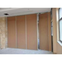 Buy cheap Acoustic Folding System Sliding Partition Walls For Classroom Fabric Surface Aluminium Frame from wholesalers