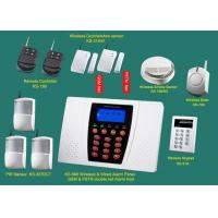 Buy cheap Home GSM quad band Alarm Systems with siren, smoke detector, door sensor, infrared sensor, keypad retail & wholesale security from wholesalers