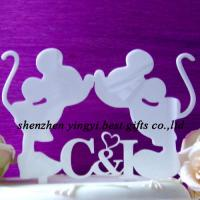Buy cheap Custom Acrylic wedding engagement cake toppers decorations from wholesalers
