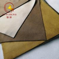 Buy cheap 2019 New Pattern Bronzed Suede Fabric bonded with fleece fabric from wholesalers