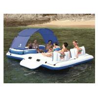 Buy cheap 6 Person Inflatable Floating Island , 0.9mm Strong PVC Tarpaulin Inflatable Lounger from wholesalers