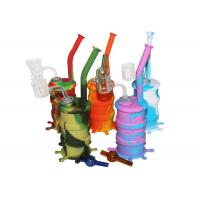Silicone Water Pipe With Double Tube Quartz Nail Silicone Hookah Bongs