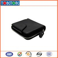 Buy cheap Small Black Leather Credit Card Holder , Mens Wallets With Coin Purse 10.5cm L X 8.5cm W from wholesalers