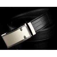 Buy cheap latest model Alligator pattern leather waist belts for man with auto press buckle from wholesalers