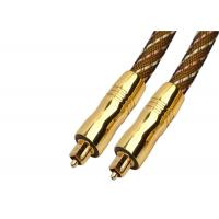 Buy cheap Digital Audio Fiber Optic Cable Quartz Glass 2M Gold - Plated Plug Metal Shell from wholesalers
