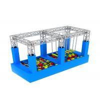 Buy cheap American Inflatable Sports Games / Kids Game Ninja Warrior Obstacle Course Trampoline from wholesalers