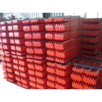 Buy cheap Jaw Crusher Wear Parts 45-130t/h Red High Managanese made SGS from wholesalers