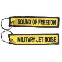 China Military Jet Noise  Sound of Freedom Custom Embroidery Keychains for Keys on sale