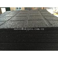 Buy cheap Anti-slip black rubber pavers crumb flooring for Playground / garden / park product