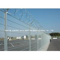 Buy cheap Anti Intruding Airport Security Fencing Panels Electrostatic Polyester Coated from wholesalers